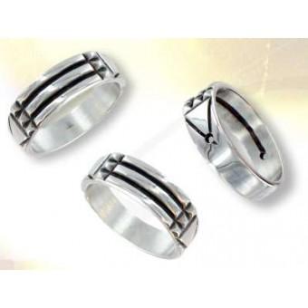 Silver Atlantis ring