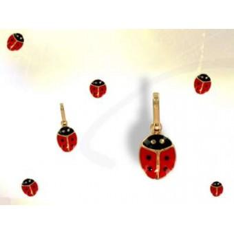 Gold plated ladybug