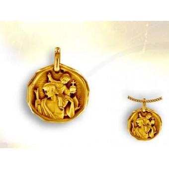 Medalla San Cristobal corladura