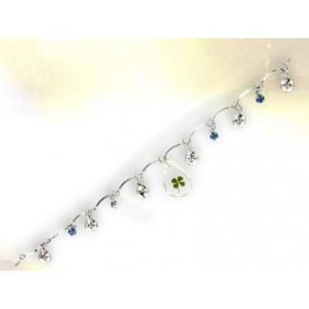 Bracelet pampille trèfle à 4 feuilles