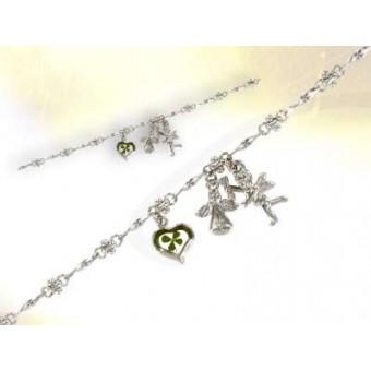 Bracelet ange trèfle à 4 feuilles