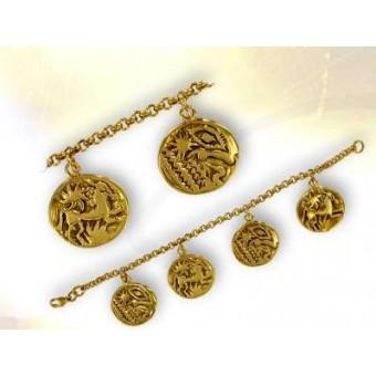 Bracelet astre doré