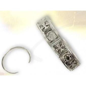 Silver plated Knights Templar bracelet