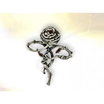 Silver Rose Cross