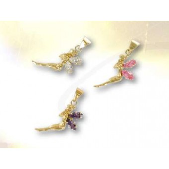 Gold fairy with your choice of gemstone colour
