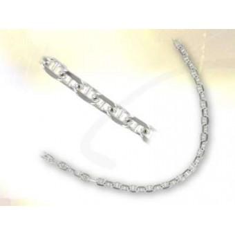 Silver marine link chain