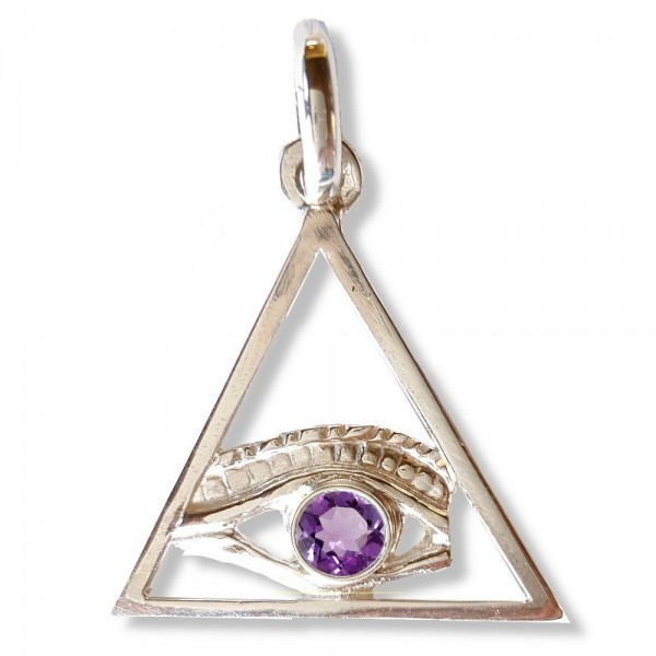 All seeing eye in triangle masonic pendant bijoux esotriques all seeing eye in triangle masonic pendant mozeypictures Images