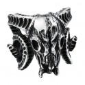 Bague crâne de Bélier argent
