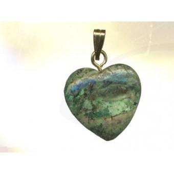 Pendentif coeur pierre aux choix