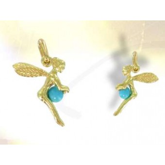 Gold and turquoise fairy