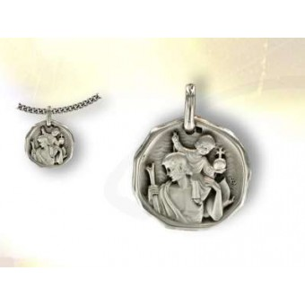 Silver St Christopher medal