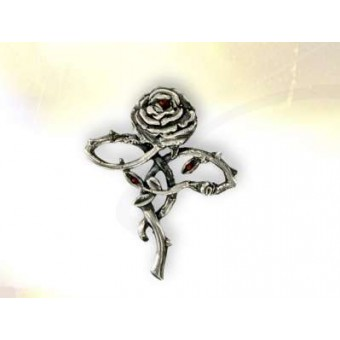Silver Rose Cross