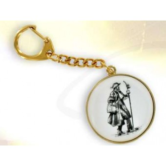 Gold plated ST James the Great key ring