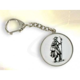 Silver plated ST James the Great key ring