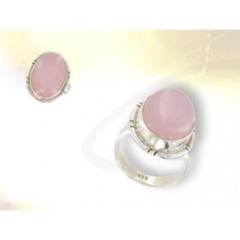Sortija cuarzo rosa