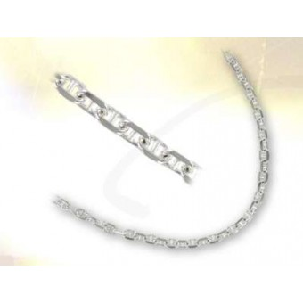 Cadena plata malla marina 6 mm