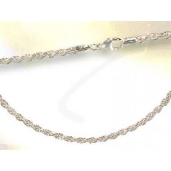 Chaine corde 3 mm_argent massif